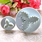 Fulldream 2pcs Holly Leaf Cake Cookie...