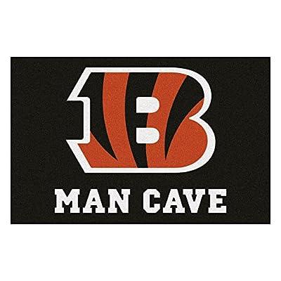 FANMATS 14285 NFL Cincinnati Bengals Nylon Universal Man Cave Starter Rug