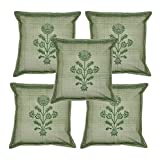 Indian Traditional Home Decor Hand Block Printed Cotton Cushion Cover 16 X 16 Inches