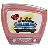 Vintage TV Shaped Coin Bank with I Love Lucy Road Trip Episode Design