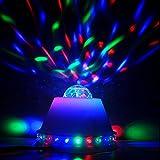 Bola de cristal de 27 luces LED Seresroad- «New RGB, giratoria y automática para Disco, Bares, Show de luces.