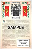 O'CASSIDEY - Armorial Name History & Coat of Arms Scroll - 11 x 17 inches (A3) - Family Crest - Genealogy - Heraldry - Heraldic