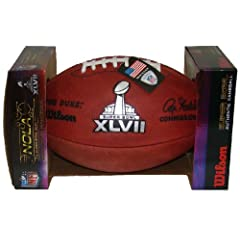 Wilson Super Bowl 47 (XLVII) Official NFL Leather Game Football - with Team Names SF... by Wilson