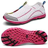QANSI Womens Breathable Mesh Slip On Water Shoes