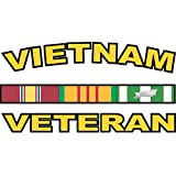 "Vietnam Veteran Sticker Vinyl Transfer decal 3.8"" Sticker"