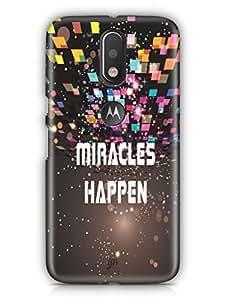 YuBingo Miracles Happen Mobile Case Back Cover for Motorola G4 Turbo
