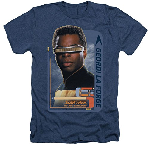 Heather: Star Trek The Next Generation Geordi Laforge T-Shirt CBS581HA