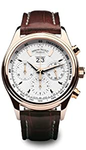 Armand Nicolet Big Date and Chronograph Watch 7148A-AG-P914MR2