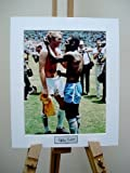 BOBBY MOORE WITH PELE, SIGNED MOUNTED PHOTO MEXICO 1970