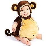 【Abz Company】 猿 乳児 幼児 赤ちゃん ハロウィン コスチューム いたずら 好き ふわふわ 着ぐるみ おくるみ パジャマ サイズ 18 Months / 2T
