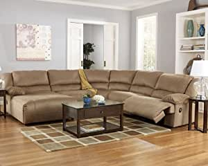 Hogan mocha 5 piece left chaise reclining for Amazon sectional sofa with chaise