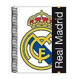 Real Madrid - Bloc A5 micro, 120 hojas (Safta 511557097)