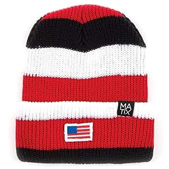 Matix - Bonnet -  Homme -  Noir - Multi Stripe - Taille unique