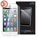 MiniGuard Apple iPhone 5 Screen Protector Set of 3 Replacement Films (Clear)