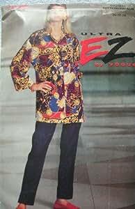 MISSES SHIRT & PANTS SIZES 20-22-24 ULTRA EZ BY VOGUE PATTERN 8588