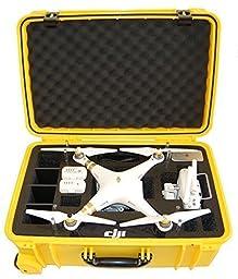 Microraptor Pro Cases Phantom 3 Case designed to fit the Advanced & Professional Editions DJI PHANTOM 3(Yellow Case, Black Foam)