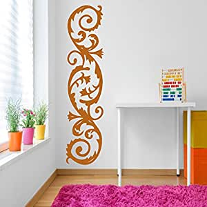 DeStudio Corner Curves Chalkboard Wall Decal, Size XXX Large & Color : BROWN
