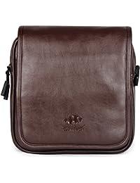 The Clownfish Leatherette Laptop And Tablet Sling Bag / Messenger Bag - Macbook Pro, Macbook Air