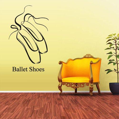 Wall Decal Vinyl Sticker Decals Ballerina Ballet Shoes Dancer Kids Boys (Z1642) front-928348