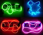 9ft Blue Neon Glowing Strobing Electr...
