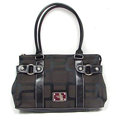 Nine West Reno Studs Satchel (Brown-Black)