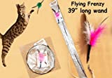 Flying Frenzy Interactive Feather Cat Toy- 39
