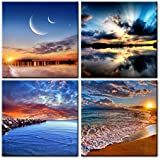 Phoenix Decor-Canvas Print,Giclee Artwork, Stretched and Framed, Paintings on Canvas Modern Lanscape Wall Art for Home and Office Decorations GF038 (12x12inchx4pcs)