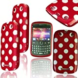 PHONE ACCESSORIES LTD Stylish Red Polka Dots Gel Jelly Case Cover For Blackberry Curve 9350 9360 9370