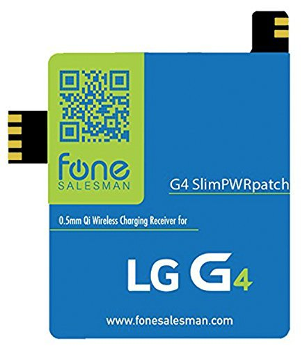 Fonesalesman G4 SlimPWRpatch Ultra Thin Qi Wireless Receiver NFC Antenna Sticker Card Patch Module for LG G4. Compatible with Verizon, T Mobile, Sprint. Recommended to use with QiStone+, WoodPuck