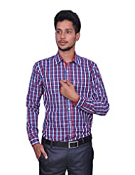 Leaf Men's Checkered Cotton Shirt (Color: Multi) - B00QPY4B32