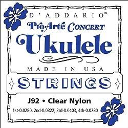 D'Addario J92 Pro-Arte Ukulele Strings, Concert