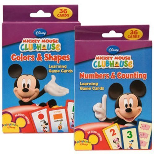 Disney Mickey Mouse Clubhouse Flash Cards Set - Featuring number recognition, counting skills, basic shapes, & colors! Designed For Your Pre-K/Kinder Child In Mind! - 1
