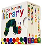 Eric Carle The Very Hungry Caterpillar Little Learning Library 4 Board Books Collection Set Eric Carle (Board Book) (Colours, Animal Sounds, Words, Numbers)