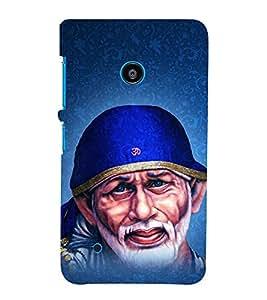 Om Sri Sai Adrishyaaya 3D Hard Polycarbonate Designer Back Case Cover for Nokia Lumia 530 :: Microsoft Lumia 530