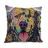 Piggyrunning Dog Abstract Art Pillowcover 18 X 18 Inches / 45 By 45 Cm Gift Or Decor For Lover,kitchen,her,bar Seat,outdoor,dance Room - 2 Sides