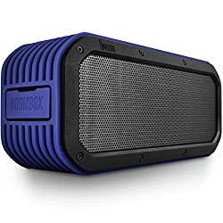 DIVOOM Voombox-outdoor Portable Ultra Rugged and Water Resistant Bluetooth 4.0 Wireless Speaker with 15w Output and 12 Hous Playback Time Color Blue