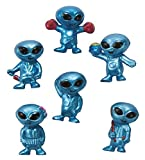 """These vinyl aliens come in search of fun! Ideal for a UFO party, these 1"""" space creatures make truly intergalactic party favors! Hand them out in your goody bags at Halloween time or use as classroom rewards for good work in the classroom! (4 dozen per unit)."""