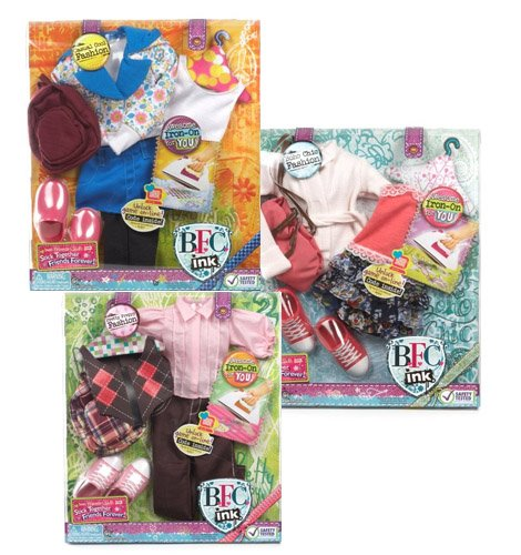 Best Friends Club Ink. 18 inches Large Doll Fashion 3 Pack (Bfc Ink Clothes compare prices)