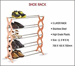 Swarish 5 Layer Shoes Storage Organiser Rack