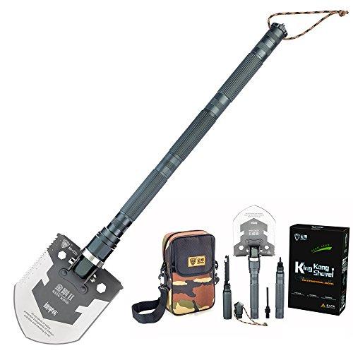 Pagreberya Multi Tool Shovel with Survival Knife Fire Starter Whistle Screwdriver Car Window Break Perfect for Compact Shovel Snow Shovel Military Folding Shovel Camping Shovel Tactical Shovel