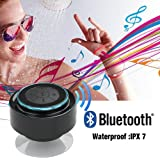 Bluetooth スピーカー 防滴 防水 お風呂 ブルートゥース ポータブル ワイヤレス ハンズフリー 通話 Iphone5/Androidなど対応