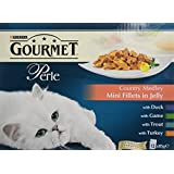 Purina Gourmet Perle Country Medley Mini Fillets in Jelly Wet Cat Food 12 x 85 g (Pack of 4)
