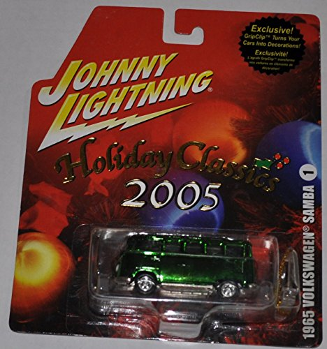 1965 Volkswagen Samba (Green) - Holiday Classics 2005 - Johnny Lightning - Diecast Car