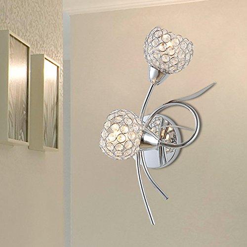Minimaliste mur lampe de mur lampe de chevet de la chambre des arts créatifs de cristal moderne