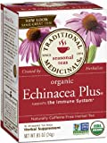 Traditional Medicinals Organic Echinacea Plus, 16 Wrapped Tea Bags (Pack of 6)