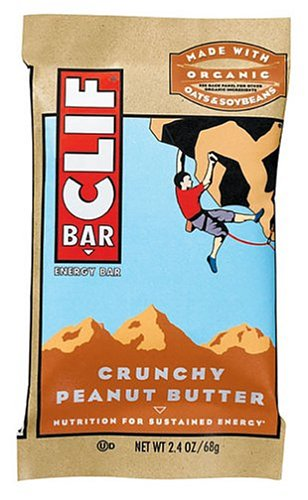 Clif Bar Energy Bar, Crunchy Peanut Butter, 2.4-Ounce Bars (Pack of 24)