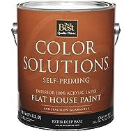 Color Solutions Latex Flat Self-Priming Exterior House Paint-EXT FLT EX DEEP BS
