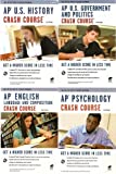 img - for 4 Volumes of REA's Crash Course: AP* Psychology, AP* US Government & Politics, AP* English Language & Composition, and AP* U.S. History 2nd Edition [The Test Prep AP Teachers Recommend] book / textbook / text book