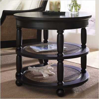 Cheap Hammary T1027235-22 Hampton Lane Round End Table in Matte Black (T1027235-22)