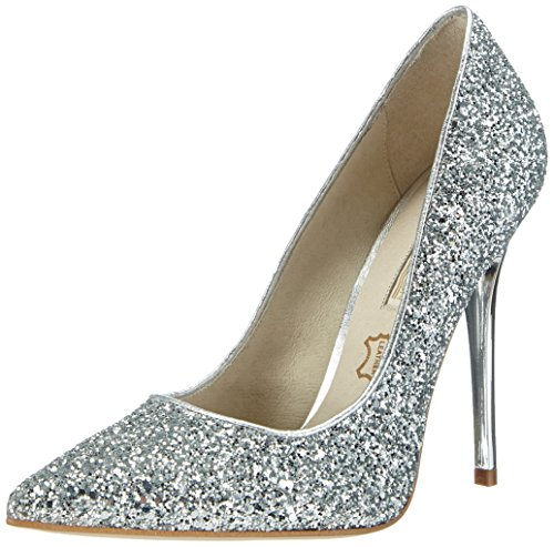 Buffalo London11335-269 GLITTER - Decolleté chiuse Donna , Argento (Silber (SILVER120)), 39